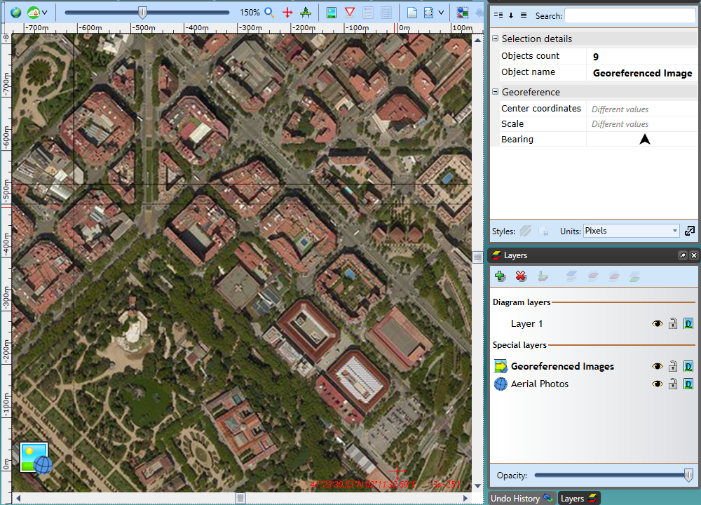 Importing a georeferenced image into RapidPlan software