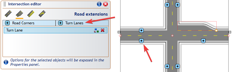 Creating an intersection in RapidPlan – Step 2