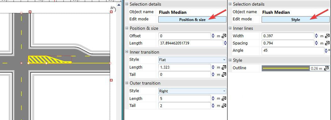 Creating an intersection in RapidPlan - Step 4