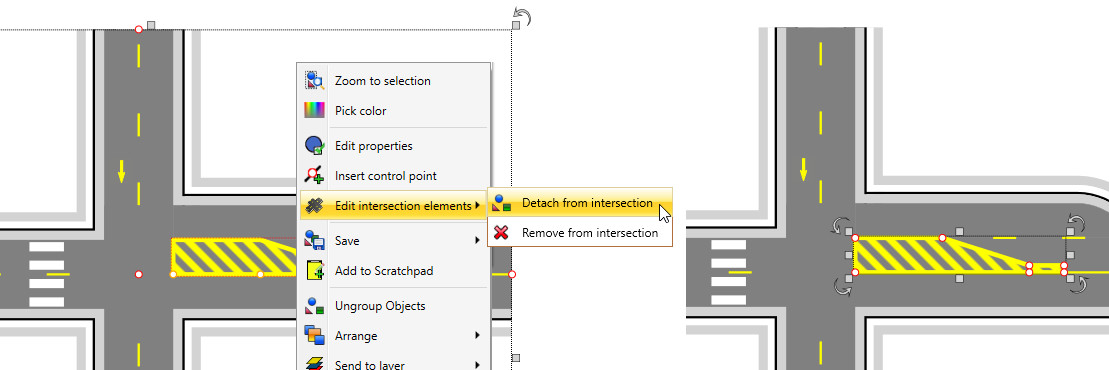 Creating an intersection in RapidPlan - Step 6